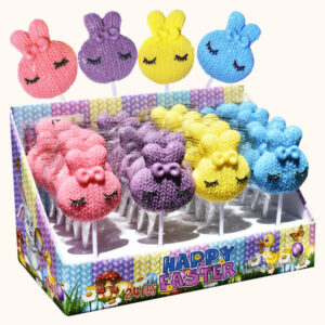 Easter Bunny Knitted Candy Pops